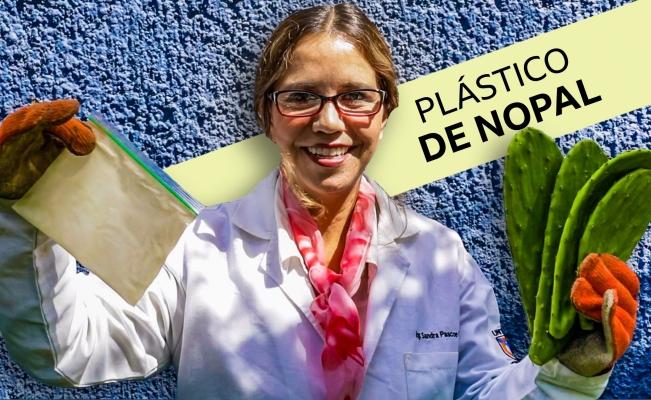 ¡Qué viva la ciencia! Inventan el plástico biodegradable hecho de jugo de Nopal